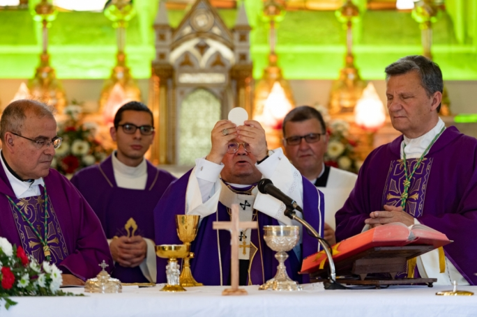 Archbishop Charles Scicluna celebrated mass in commemoration of the Sette Giugno victims on Friday